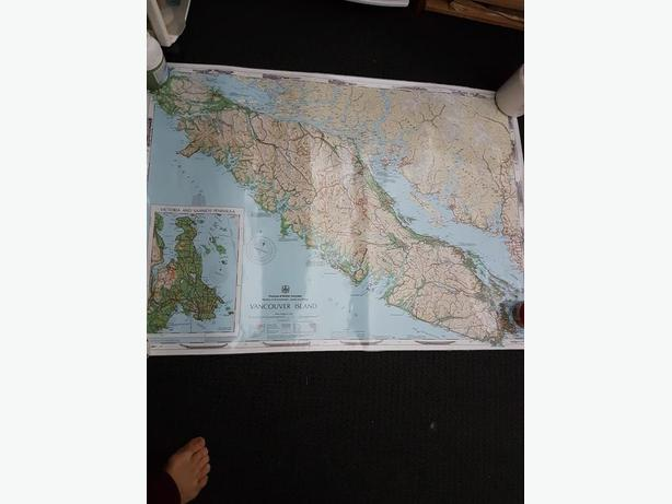 Large Laminated map of Vancouver Island