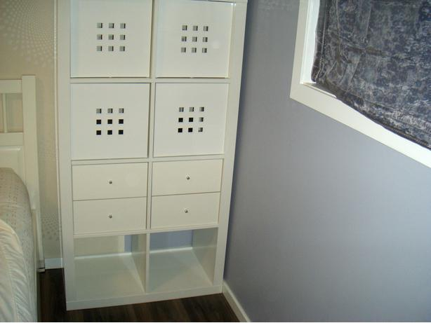 IKEA High Gloss White KALLAX Bookcase Wall Cabinet With
