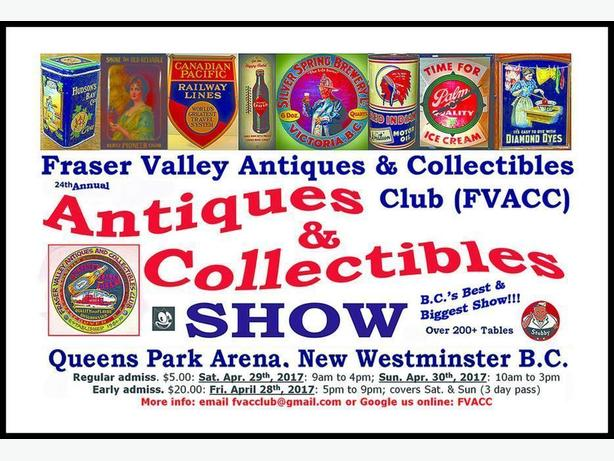 FVACC Antiques & Collectibles Show - Fri/Sat/Sun Apr 28-30th 2017