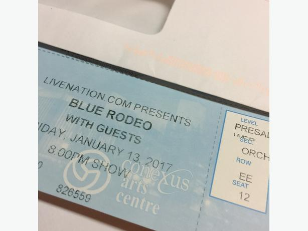 Blue Rodeo Tickets - 5th Row - Friday, January 13, 2017
