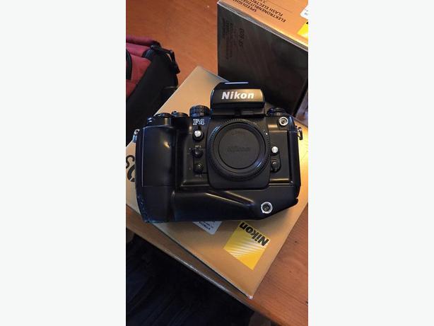 Nikon F4 with MB-21