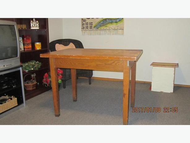 antique  oak office table