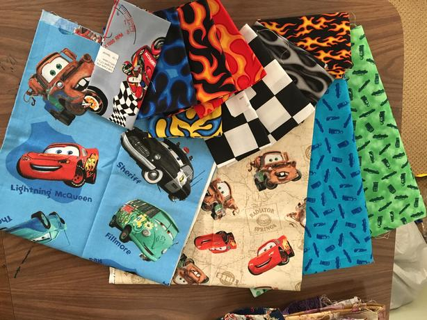 Quilting cottons - Cars/racing/Lightning McQueen