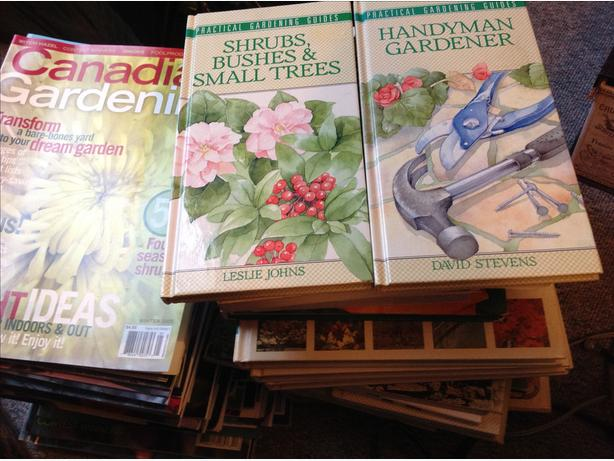 Assorted Gardening Books and Magazines