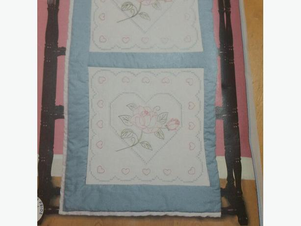 """6 PACKAGES OF 18"""" ROSE AND HEART PATTERN QUILT SQUARES"""