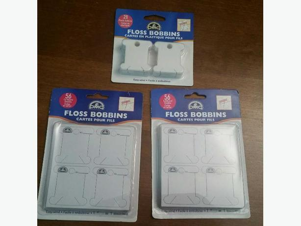 NEW 3 PACKAGES OF FLOSS BOBBINS