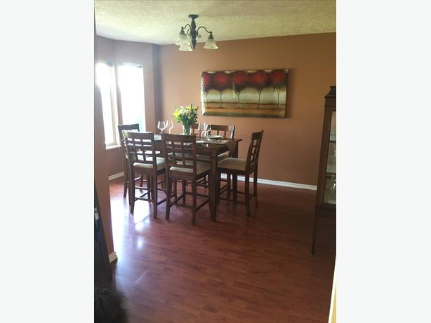 Bar Style Dining Room Table With 8 Chairs West Shore
