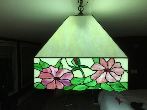 pool table stained glass parlour light