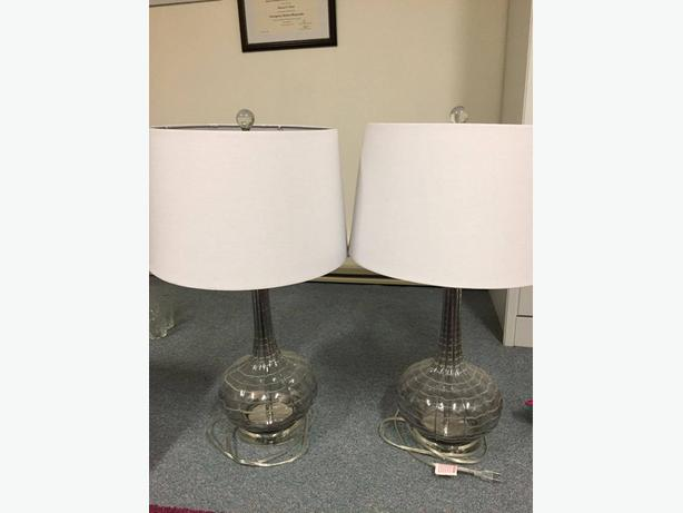 Grey Matching Table Lamps Victoria City Victoria
