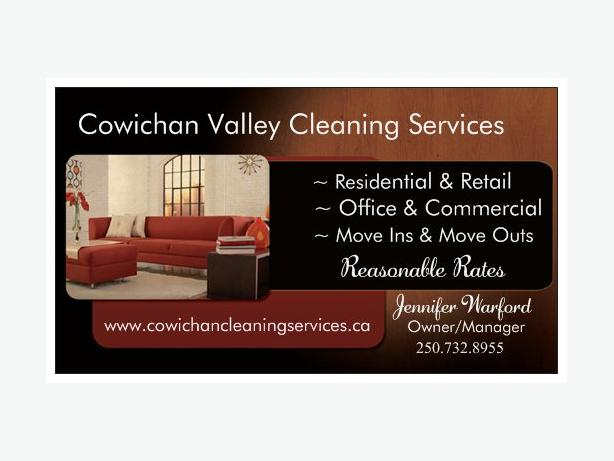 Cowichan Valley Cleaning Services is OPEN for Business