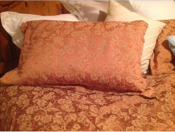 Queen size brocade coverlet with 2 pillow cases