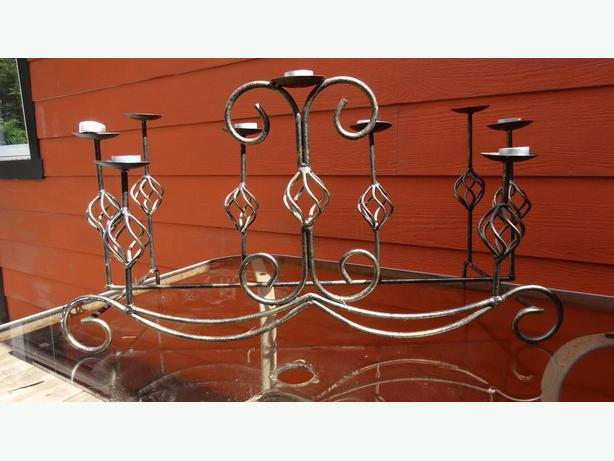 metal candle centerpiece