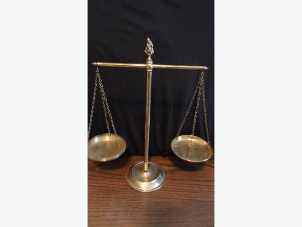 Decorative Brass Weigh scales