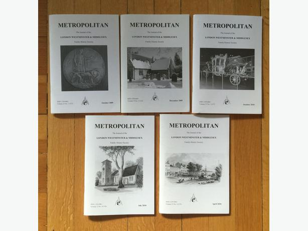 Metropolitan: Journal of the London Westminster & Middlesex Family History Soc.