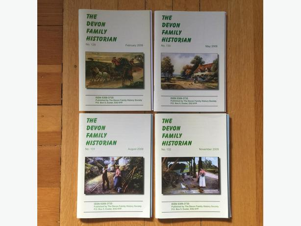 Devon Family Historian (4 issues from 2009)