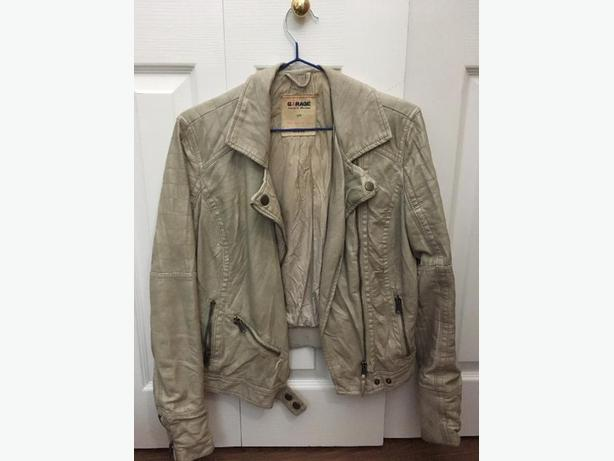 Small Garage Faux Leather Jacket