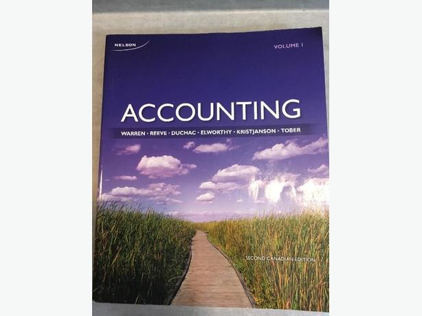 Accounting Volume 1 Second Canadian Edition by Nelson