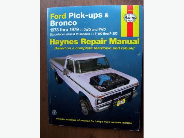 Ford Pick-ups & Bronco Haynes Manual