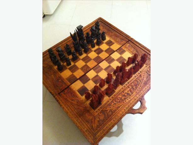 Wood Chess Board - $80