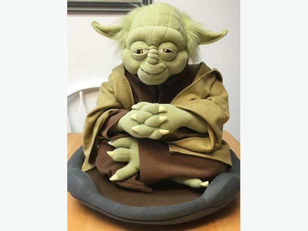 Life size plush Yoda