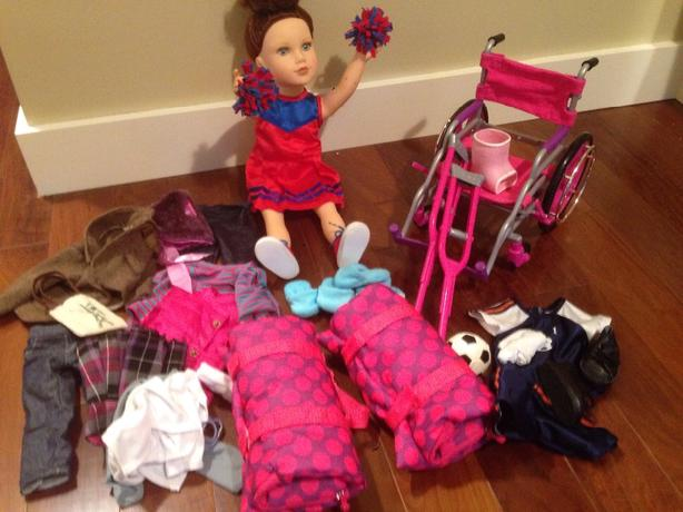 """Journey Doll Kelsey 18"""" and Clothes"""