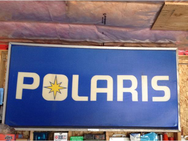 large Polaris Sign for trade