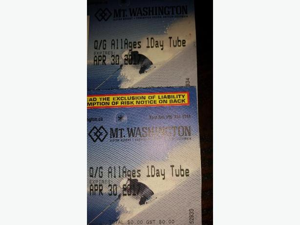 2 tubing passes for Mt. Washington