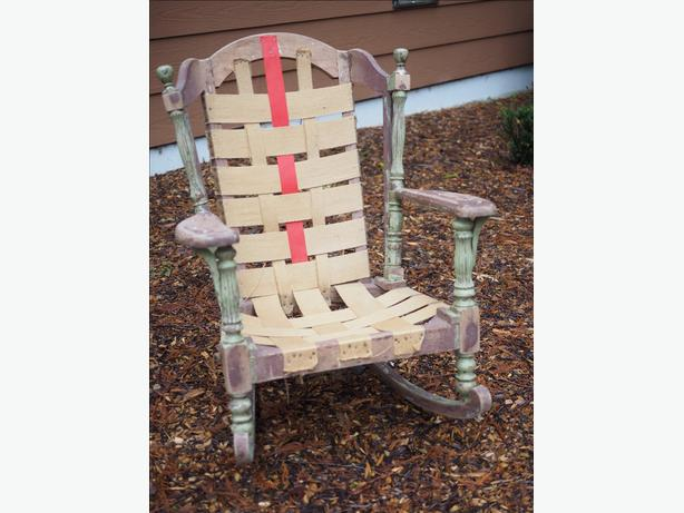 Old rocking chair frame