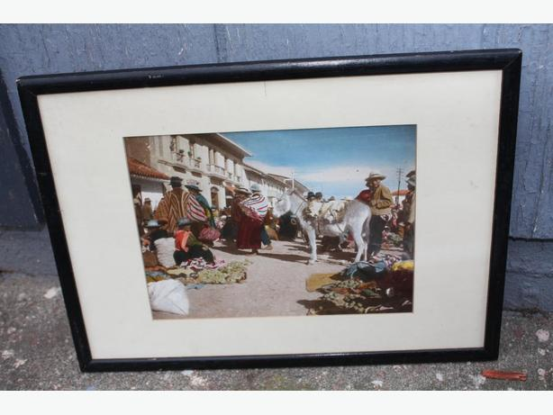 PAIR OF OLD TYME PHOTOGRAPHS FRAMED ETHNIC $20