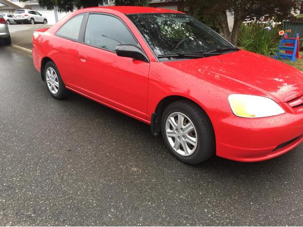 2003 Red honda civic coupe