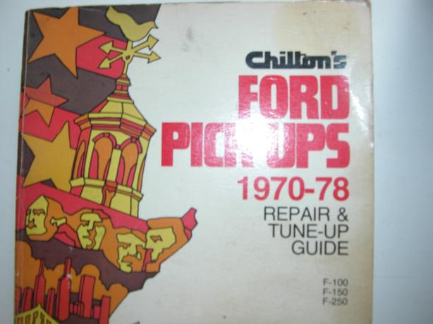1970  to 1978 CHILTON FORD REPAIR MANUAL