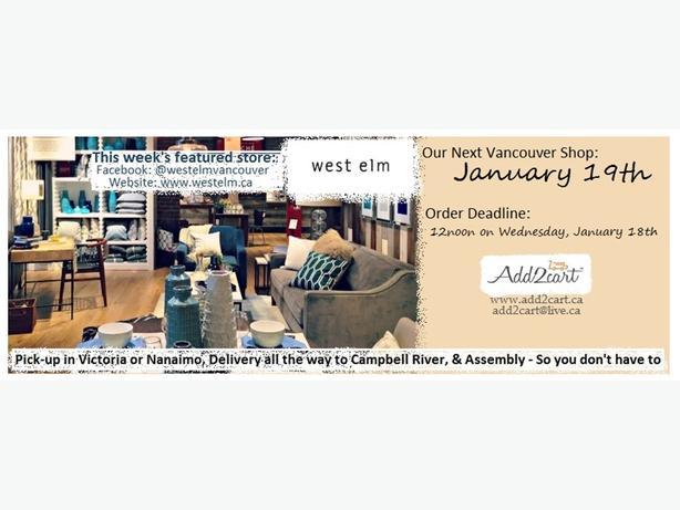 Add2cart.ca Nanaimo   We deliver IKEA  January 19th