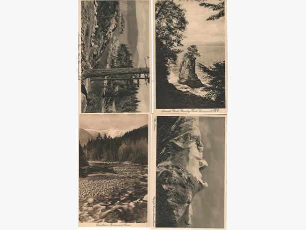 13 Vintage BC Postcards By Leonard Frank