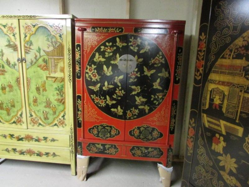 Hand Paint Asian Furniture New Container Just In Sale Is On Outside Victoria Victoria