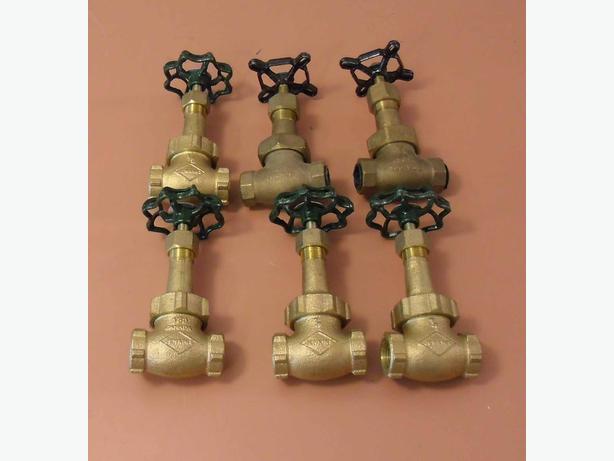 """Plumbing Taps  6 New Gate Valves ½"""" Threaded"""