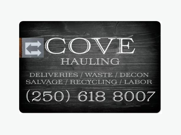 COVE HAULING, MOVING, DELIVERY, LABOR.