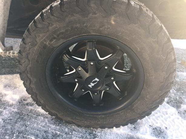 ion wheels with bf goodrich a/t like new