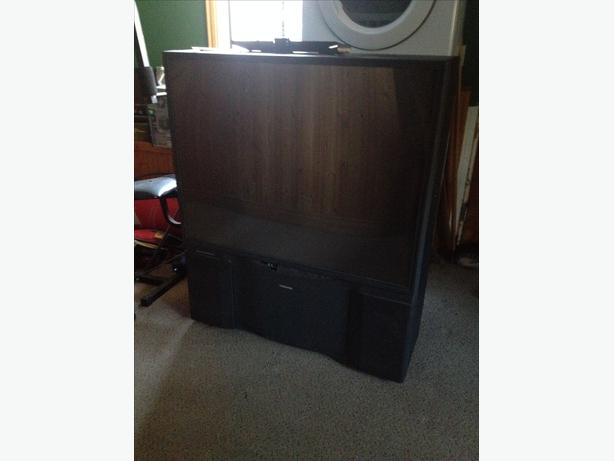 "FREE: 50"" Toshiba projection TV"