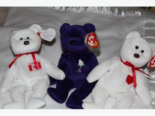 1 BEANIE BABY BEAR[ LADY DIANA]  OTHER ONES ARE SOLD