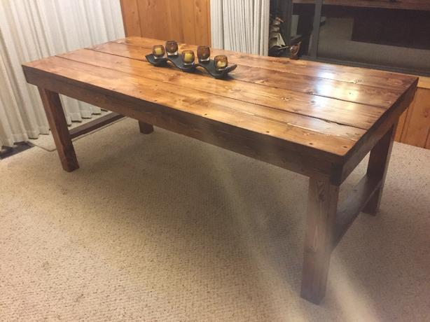 hand crafted table
