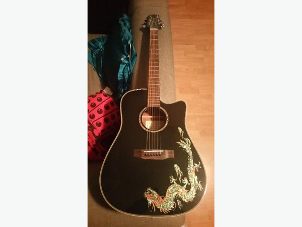 Takamine dragon acoustic electric guitar