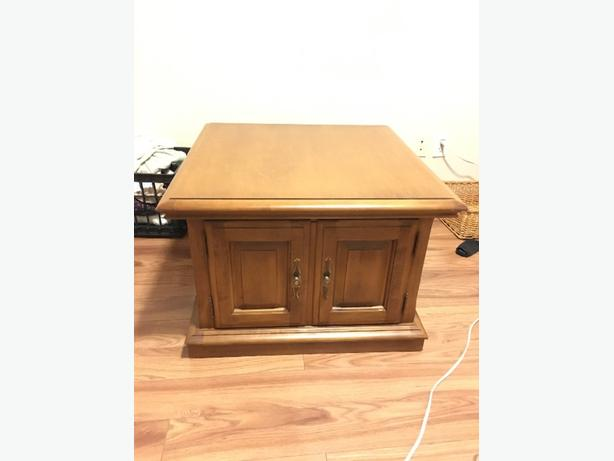 Sturdy Wood Coffee Table With Storage Victoria City Victoria Mobile