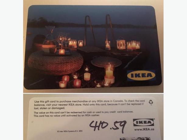 IKEA gift card with $410.59