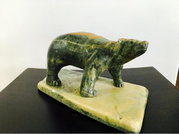 Hand Carved Soapstone Bear