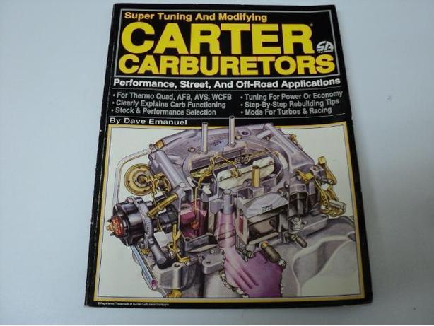 Carburetor Manuals, Repair Guides Holley, Peterson's, Carter $5 Each