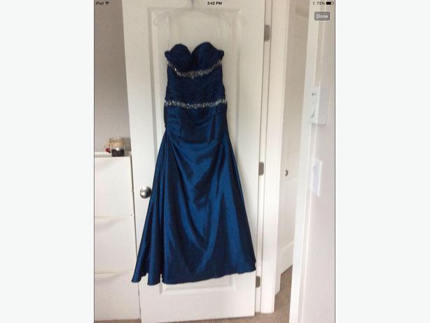 Navy blue grad dress