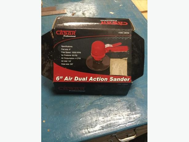 "6"" dual action air sander"