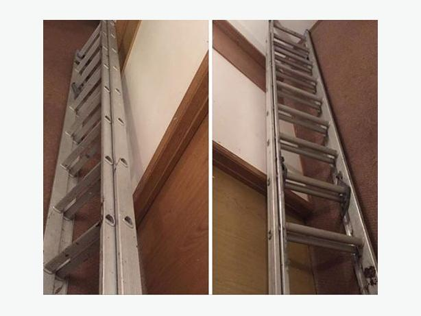 Aluminium ladder 25ft