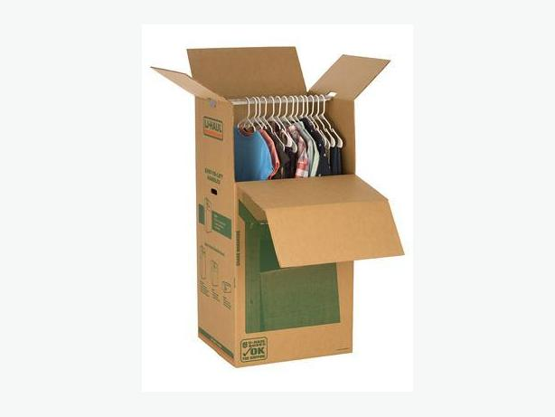 wardrobe moving boxes from u haul like new used once