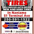 Tire Store Now open in Naniamo